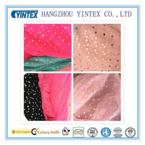 """56""""Handmade 100% Soft Mesh Foil Printed Fabric for Dress, 40d pictures & photos"""