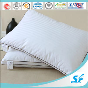 1cm 3cm Stripes 300tc Feather Pillow for Hotel pictures & photos