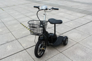 500W 48V Front Suspension Fork Zappy Three Wheel Elecric Scooter with Seat and Handles/Electric Tricycle pictures & photos