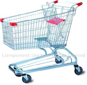 Supermarket Trolley Cart, Shopping Metal Trolley, Shopping Basket, Shopping Cart, Trolley on Wheels pictures & photos