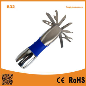 B32 Pocket Tools with LED Outdoor Camping. Flashlight pictures & photos