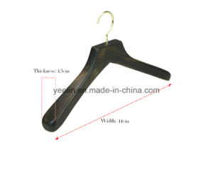 Antique Wide Shoulder Wooden Coat Hanger for Suit Fashion Display pictures & photos