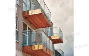 Balcony Steel Glass Rails / Glass Guardrail pictures & photos