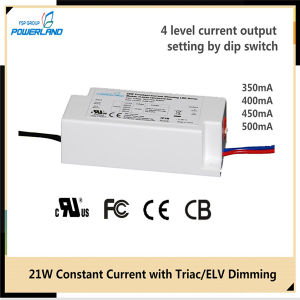 20W 350/400/450/500mA Constant Current Triac/Elv Dimmable LED Driver pictures & photos