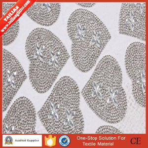 2016 Tailian Hot Fix Heart Design Rhinestone Crystal Mesh pictures & photos