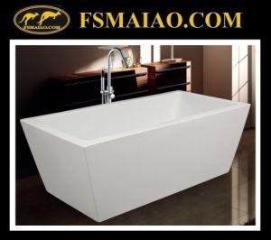 Sharp-Straight Rectangle Bathtub Acrylic Freestanding Bathtub (9015) pictures & photos