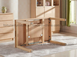 Wooden Extendable Birch Veneer UV Matt Clear Lacquer Dining Table (AD-FA-B601-CT) pictures & photos