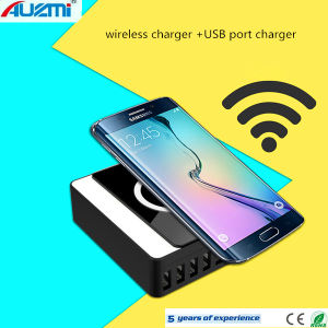Wireless Charging and 8 USB Charging 2 in 1 Charger