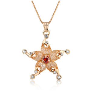 Dubai Style Starfish Design Mesh Crystal Jewelry Necklace pictures & photos