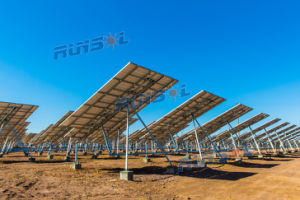 Solar PV Power System Tilted Single-Axis Tracking System pictures & photos