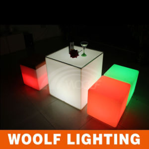 16 Colors Changing Party Event Furniture LED Cube pictures & photos