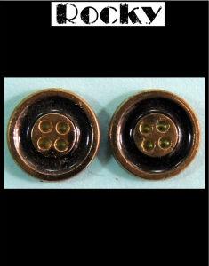 Decoration Accessories Black Oil Alloy Button pictures & photos