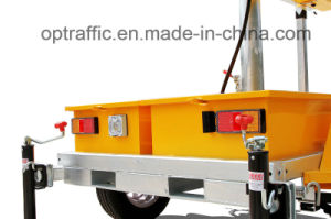 UK Standard Amber and Colorful Solar Powered Mobile Vms Trailer pictures & photos