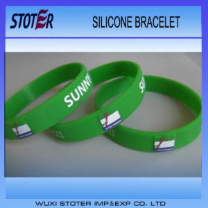 Custom Made Logo Silicone Wristbands Personalized Wristband pictures & photos