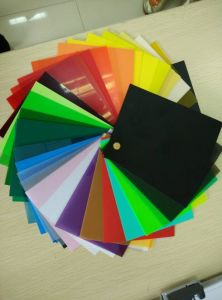 Colored Transparent Rigid PVC Sheet Film pictures & photos