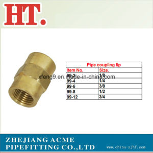 Lead Free Brass Pipe Coupling NPT Female Threaded Fitting pictures & photos