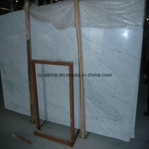 Italian Bianco Carrara White Polished Marble Slab for Tiles and Countertops pictures & photos