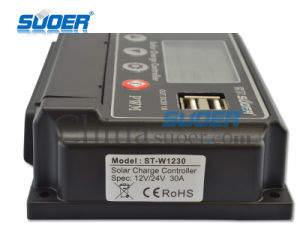 Suoer 12V 24V 20A Solar Charge Controller for Home Use (ST-W1220) pictures & photos