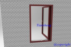Single Glass Aluminum Casement Window for Commercial and Residential pictures & photos