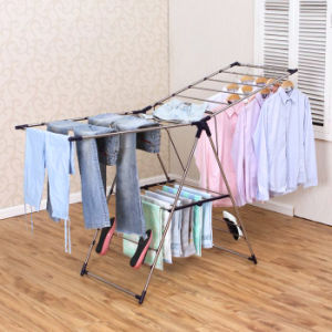 Stainless Steel Foldable Multi-Purpose Cloth Drying Rack pictures & photos