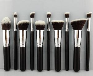 10 PCS Portable High Quality Silver Makeup Brush