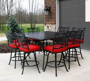 Leisure 9 PC Cast Aluminum High Dining Set Outdoor Furniture pictures & photos