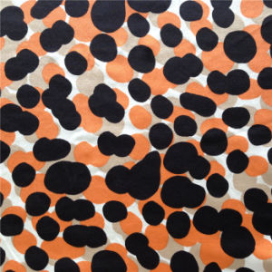 Back Side Print Silk Satin in Dots Pattern pictures & photos