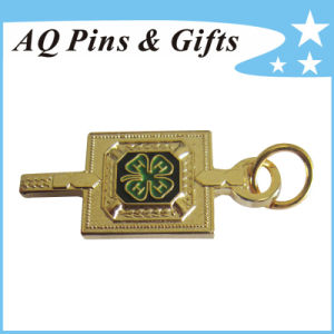 Metal Gold Badge in Finest Sandblasting with Safety Pin (badge-206) pictures & photos