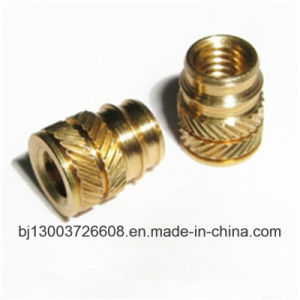 CNC Customized Knurling Brass Threaded Insert Nut with Machining pictures & photos