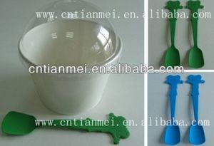 Plastic Ice Cream Spoon % Yogurt Spoon pictures & photos