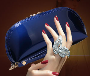 Clutch Bag Patent Leather Fashion Designer Lady Handbag (XW716) pictures & photos