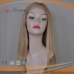 Human Hair Full Hand Tied Mono Top Blonde Front Lace Wig pictures & photos