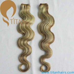 Body Wave 8#/22#/613# Mixed Piano Color Remy Hair Weft