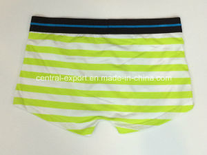 New Style Men′s Boxer Short Underwear with Yarn-Dyed Stripe pictures & photos