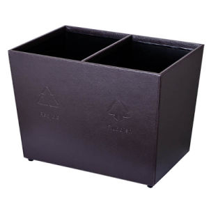 Hotel Double Bins for Waste Sorting with Leatherette pictures & photos
