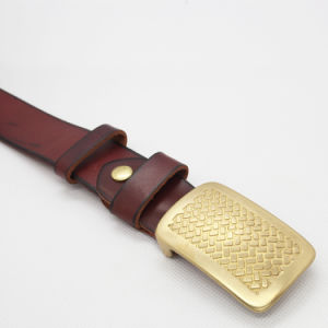 Top Layer Genuine Leather Belt Cow Hide Belt Cattle Hide Belt (SR-131209) pictures & photos
