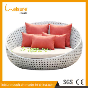 PE Rattan Lounge Beach Chairs Outdoor Furniture Rattan Garden Terrace Outdoor Lying Sun Daybed pictures & photos