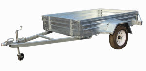 7X5 Hot Dipped Galvanized Box Trailer with Cage pictures & photos