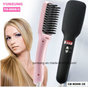 2 in 1 Hair Straightener Brush (YS-6656-C) pictures & photos