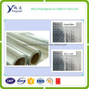 Fire Retardant Woven Aluminium Foil/Heat Insulation Fabrics/Foil Mesh Cloth Insulation pictures & photos