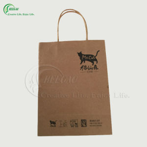 Custom High Quality Kraft Packaging Paper Bag for Shopping/Gift/Clothing (KG-PB015) pictures & photos