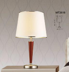 Modern Bedside Steel Rubberwood Table Light (KAMT2618) pictures & photos