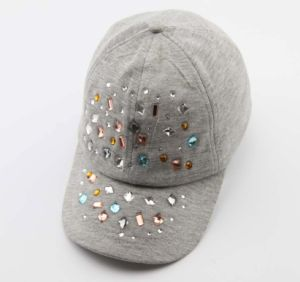 OEM Fashion 6 Panel Baseball Cap Hat Embossed Rhinestone pictures & photos