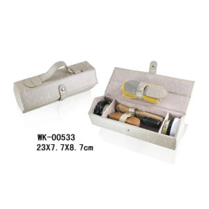 Light Gold Lychee Pattern Shoe Cleaning Set pictures & photos