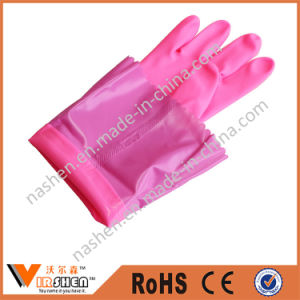 Long Latex Dishwashing Gloves Household Washing Gloves pictures & photos