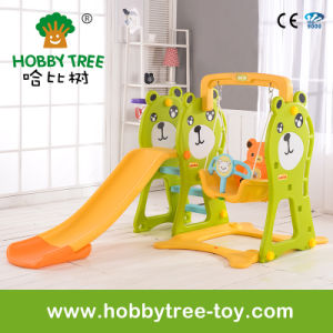 2017 Bear Style Hot Fmaily Baby Plastic Toys with Slide (HBS17020D)