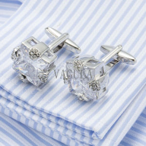 VAGULA Crystal Cuff Links Top Quality Lawyer Groom Wedding Cufflinks Gemelos 501 pictures & photos