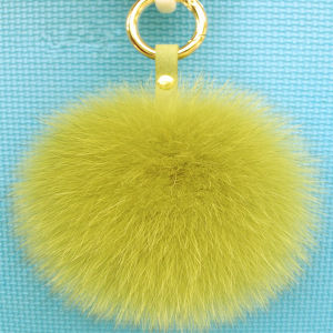 Fluffy Cute Ball Multi-Color Keychain Genuine Rabbit Fur Pompoms pictures & photos