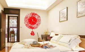 Fashion Chinese Gift Art Acrylic Wall Clock pictures & photos