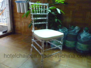 Stacking Plastic Wedding Banquet Wedding Tiffany Chiavari Chair with Cushion pictures & photos